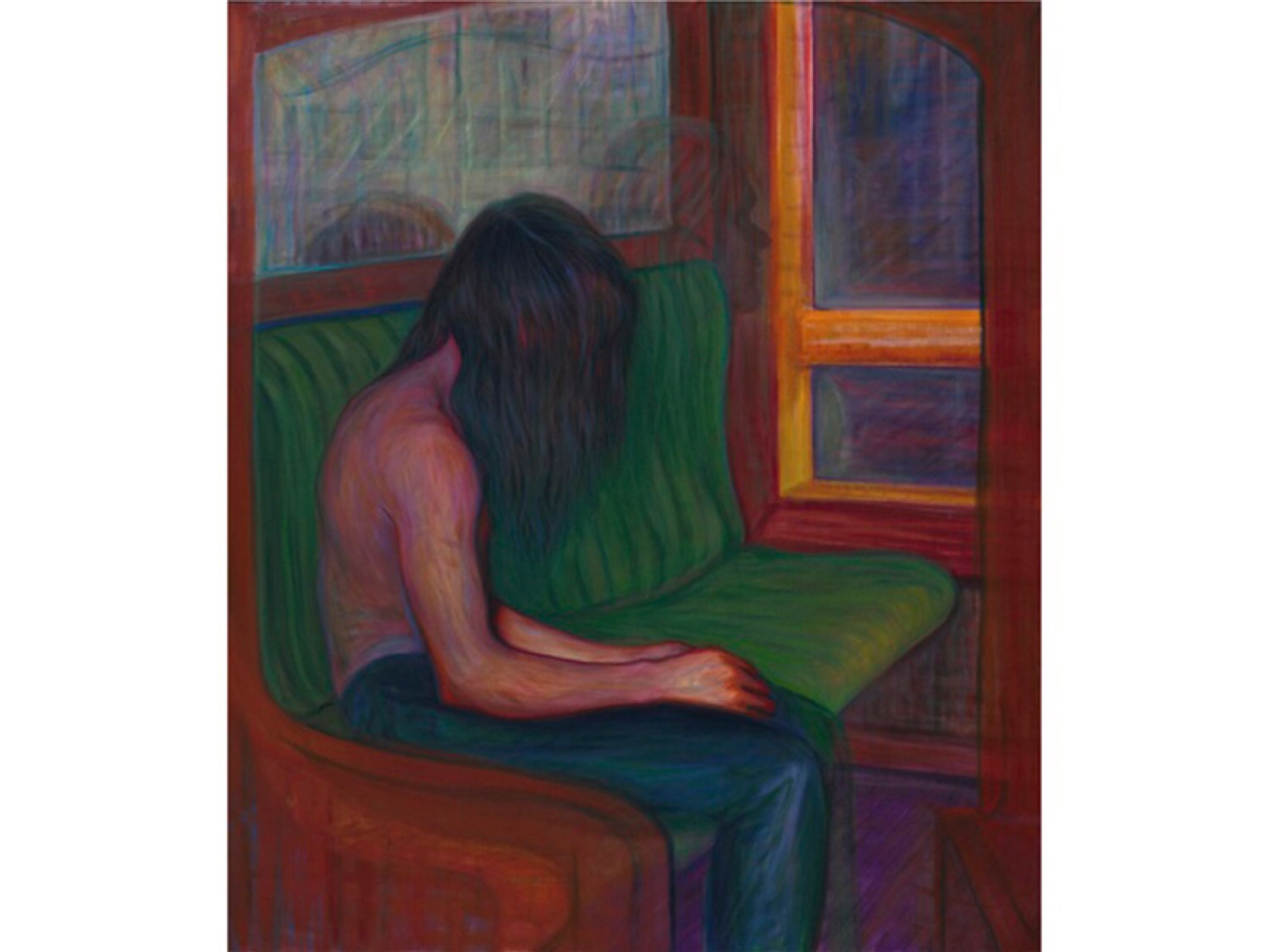 Man Sitting by Steven Shearer, Charles Riva Collection