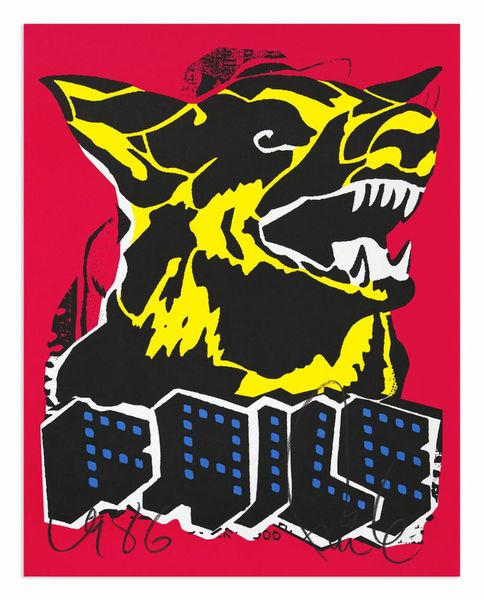 Dog black light by Faile, Gulosten
