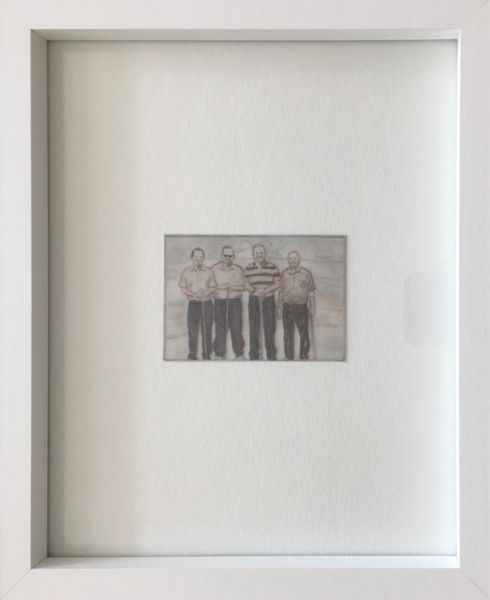 """Four men in matching trousers"" by Philip M. Jonathan, mnoermark"