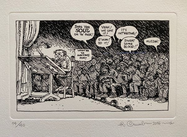 Bare Yer SOUL on th' page! by Robert Crumb, Voldsted Collection