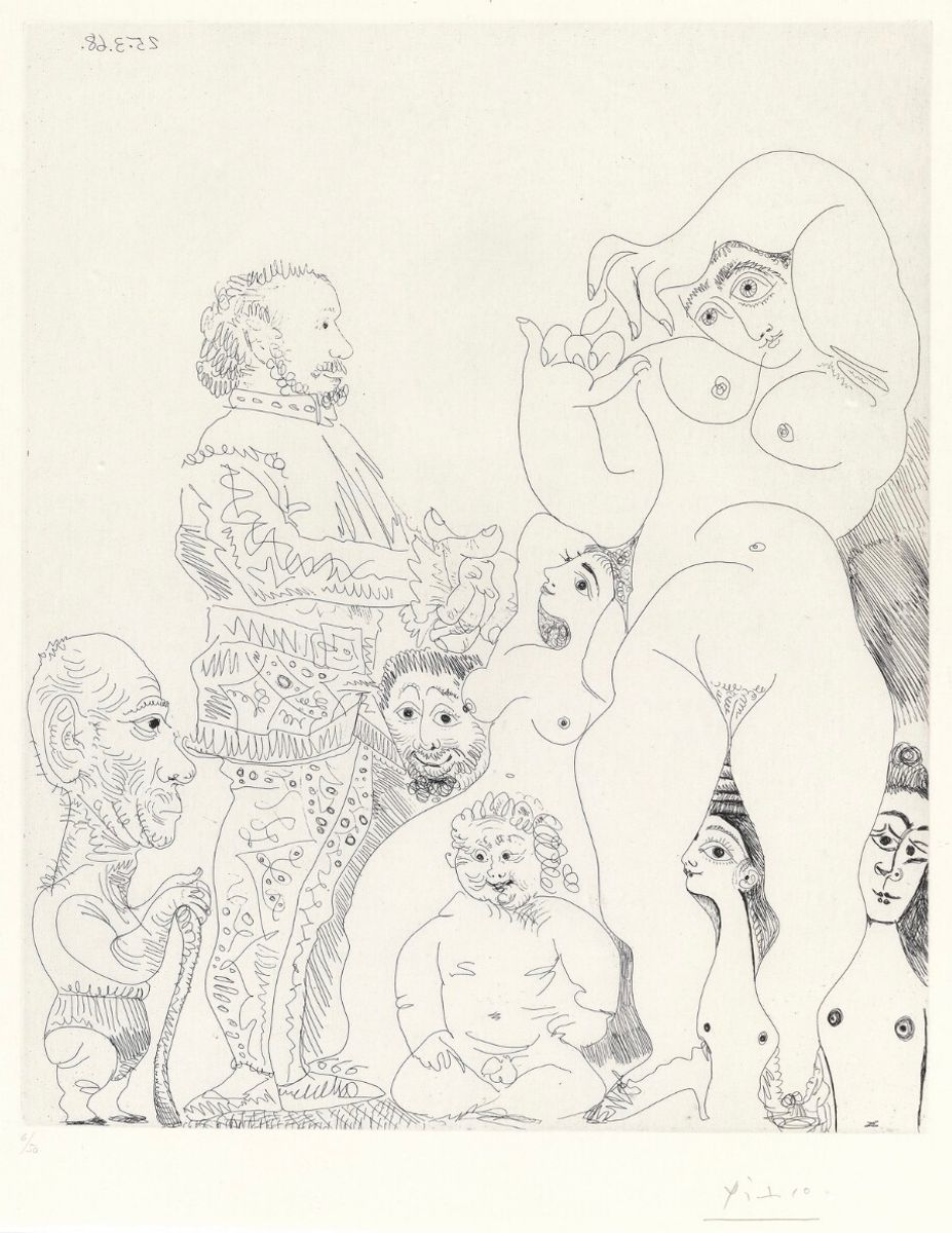 "#8 - from the series ""347 gravures"" by Pablo Picasso, Voldsted Collection"