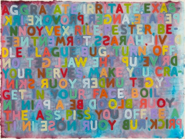 Artwork by Mel Bochner, Robert Mollers