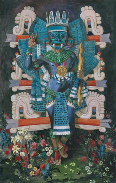 Tlaloc the flower giver by chicome itzcuintli, Estevan Maestas