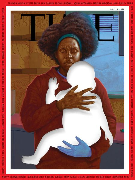 Artist Titus Kaphar Painted a Black Mother With the Silhouette of a Child for the Cover of TIME Magazine's Protest Issue
