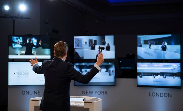 Despite an online boost, auction houses saw a 49 percent drop in sales in the first half of 2020.