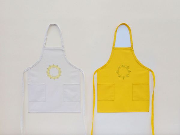 Untitled (two aprons) by Hans Holten, Bonamatic