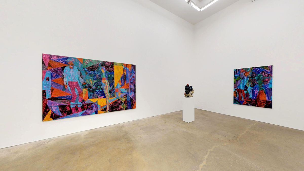 A two-person exhibition