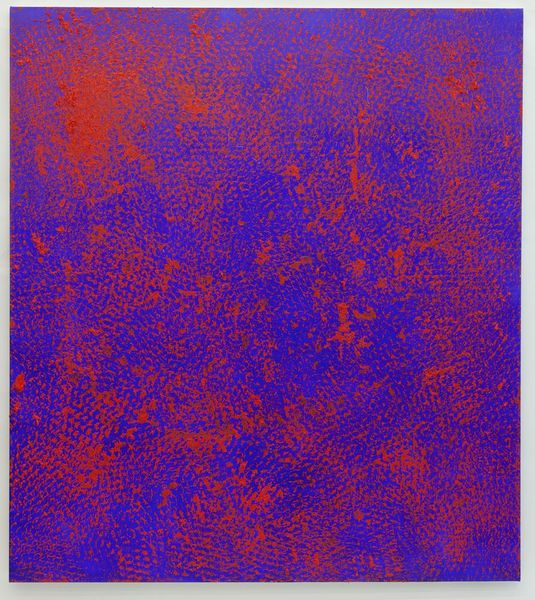 Expandet Metal Painting (Blue and red Nr. 2)