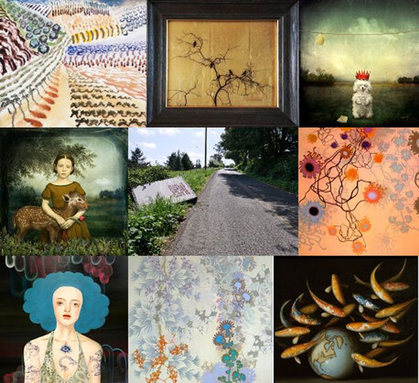 A New Year exhibition of artworks