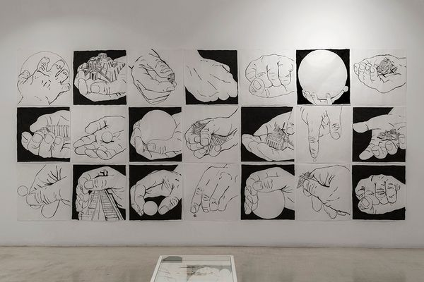 Think about the size of the universe, then brush your teeth an go to bed (Group Exhibition), Galeria Joan Prats (6 of 6)