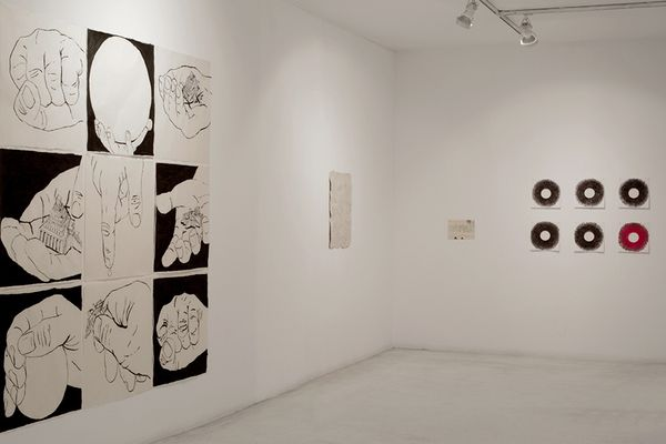 Think about the size of the universe, then brush your teeth an go to bed (Group Exhibition), Galeria Joan Prats (5 of 6)