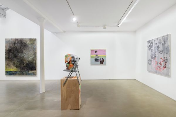 Greene Naftali Gallery at Galerie Chantal Crousel: Arrangement in Gray