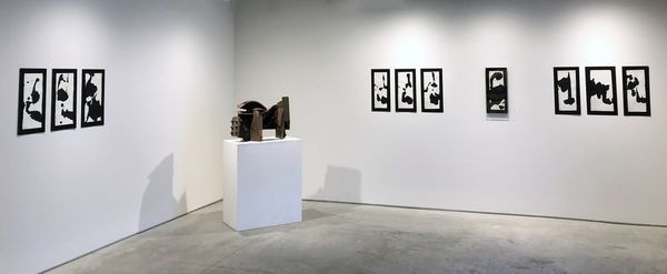 Sumi Ink Drawings with Sculpture