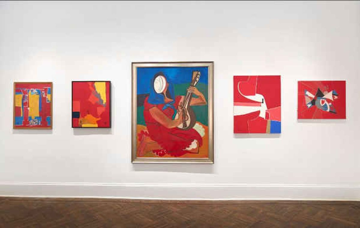 RED: Paintings from the 1950's to the present