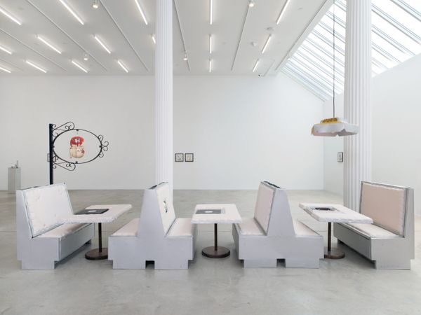 The China Chalet Group by Ben Schumacher, Bortolami Gallery