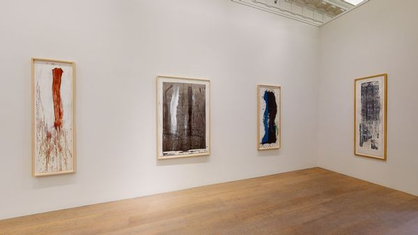 Pat Steir: Waterfall Paintings on Paper by Pat Steir, Lévy Gorvy | New York (4 of 8)