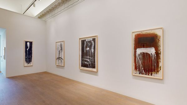 Pat Steir: Waterfall Paintings on Paper by Pat Steir, Lévy Gorvy | New York (8 of 8)