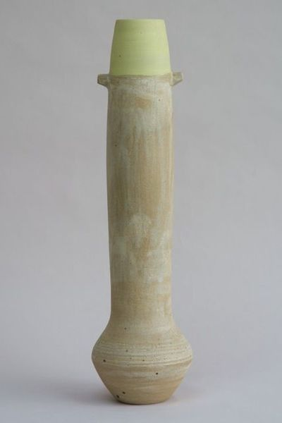 Tall Bottle with Yellow Rim