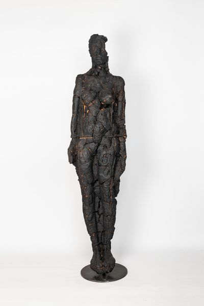 Burned figure by Matteo Lucca, Luisa Catucci Gallery