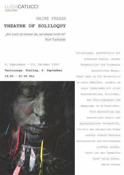 THEATRE OF SOLILOQUY by Maike Freess, Luisa Catucci Gallery