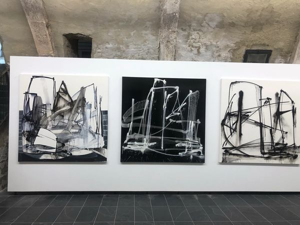 Black and White Paintings by Eric Mangen, Valerius Gallery (2 of 2)