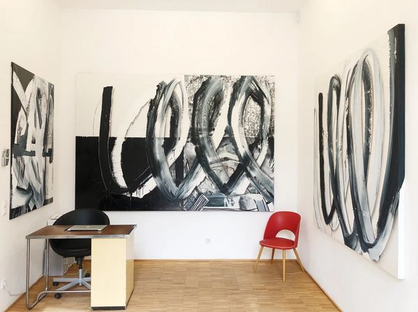 Black and White Paintings by Eric Mangen, Valerius Gallery