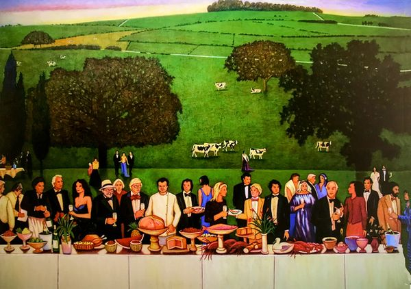 Feasting on the lawns of Glyndebourne Opera House, guest of David Hockney