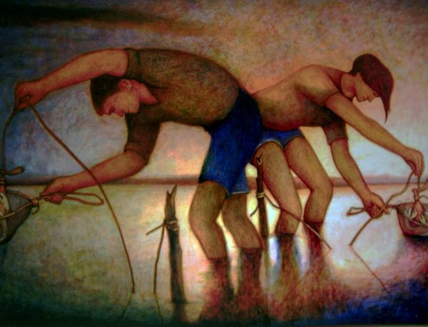 The Yabbie Catchers by Bob Marchant, Anthony Horth Gallery