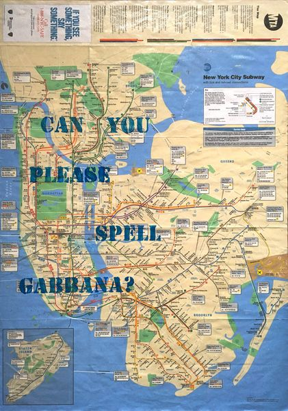 Can you plese spell Gabbana?