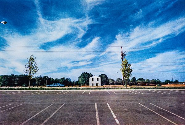 "Untitled (White Building Across Parking Lot) from the Los Alamos (""Cousins"")"