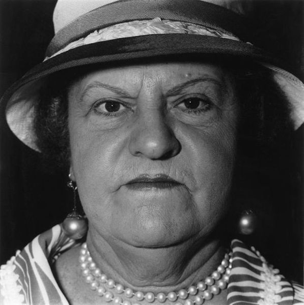 A Woman with Pearl Necklace and Earrings, N.Y.C. by Diane Arbus, Jackson Fine Art