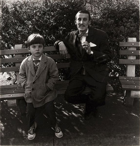 Man and a boy on a bench in Central Park, N.Y.C by Diane Arbus, Jackson Fine Art