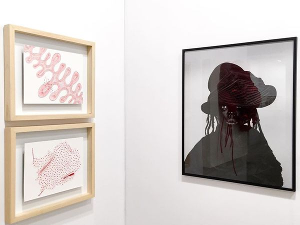 Paper Positions Frankfurt (Group Exhibition), Sakhile&Me (3 of 6)