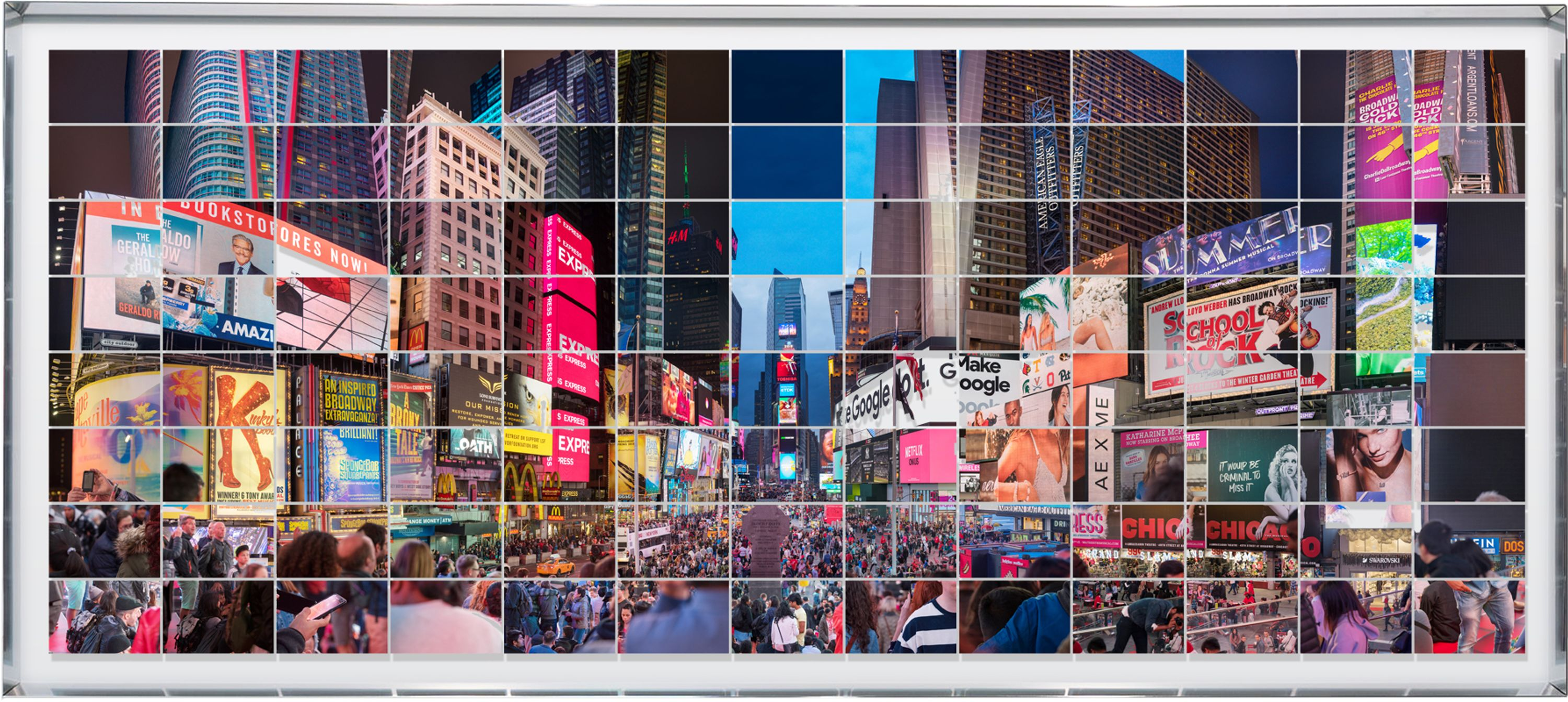 CRONORAMI series | NYC Times Square | Variation #01 by Max Farina, Cabiria Art Gallery